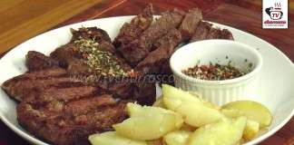 Bife Ancho com Batatas e Chimichurri