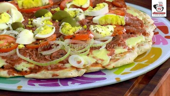 Pizza de Churrasqueira a Moda Portuguesa
