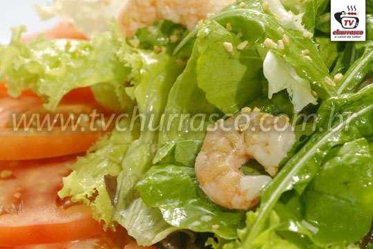 Salada Verde com Camarão