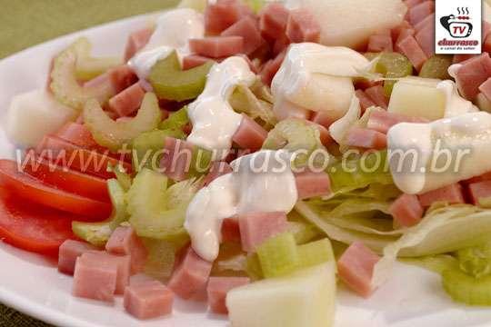 Salada de Melão com Salsão