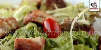 Salada de Folhas com Frango