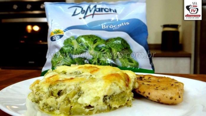Como Fazer Lasanha de Brócolis com Filé Frango ( Lasanha com Molho Branco )
