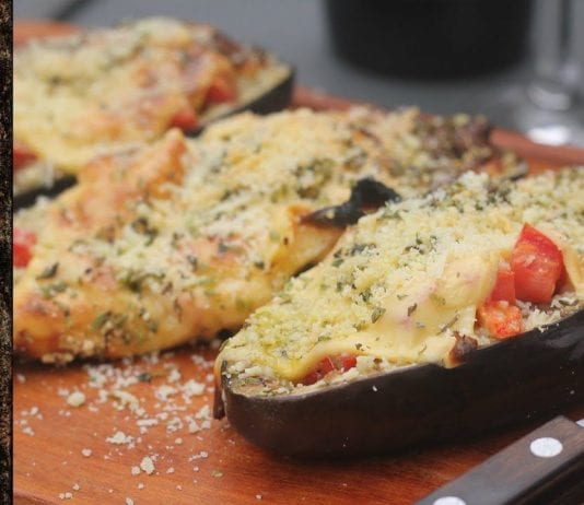 Receita de Berinjela Recheada (Stuffed Eggplant) - BBQ em Casa