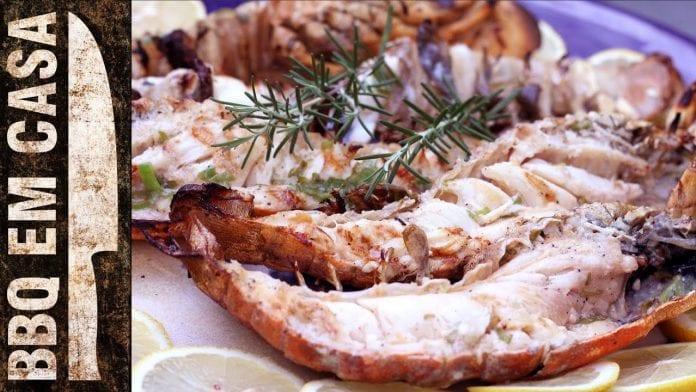 Receita de Lagosta Grelhada (Grilled Lobster) - BBQ em Casa