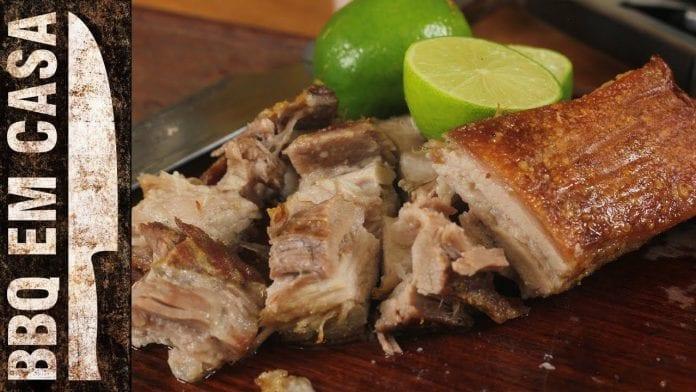 Receita de Barriga à Pururuca - Pancetta - BBQ em Casa