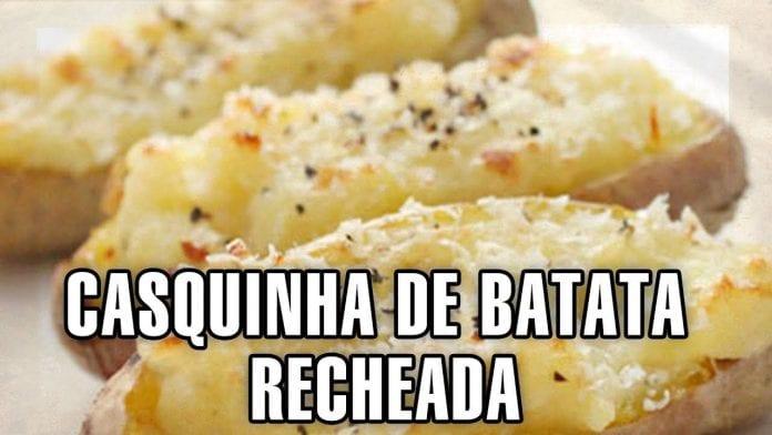 Receita de Casquinha de Batata Recheada (Grilled Potato Skin) - Churrasco - BBQ em Casa