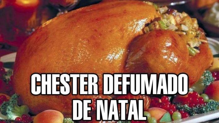 Receita de Chester Defumado de Natal - Churrasco - BBQ em Casa