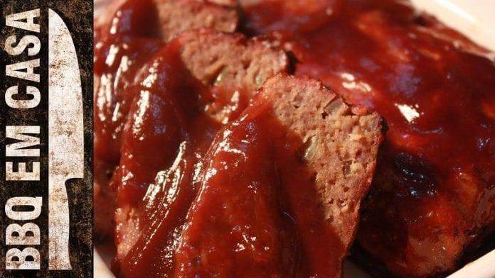 Receita de Bolo de Carne - Meat Loaf (Churrasco) - BBQ em Casa