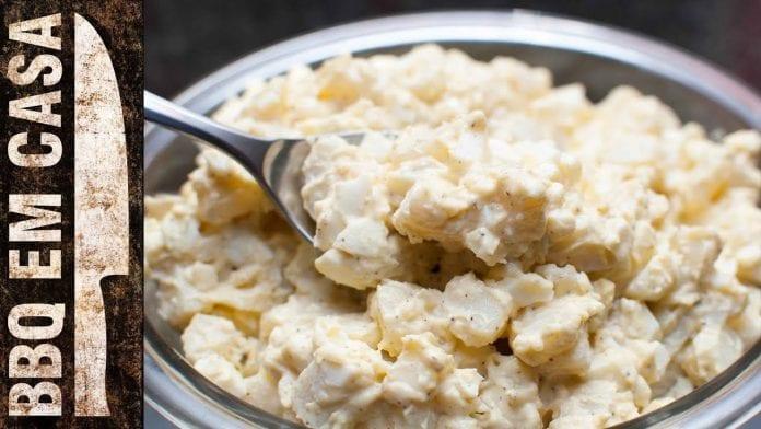 Receita de Salada de Batata - Potato Salad - BBQ em Casa