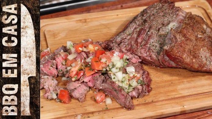 Receita de Fraldinha Temperada com Sal de Ervas (Flank Beef) - BBQ em Casa