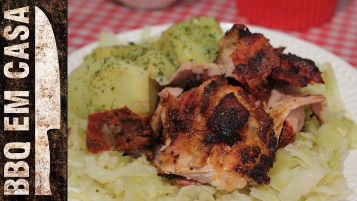 Receita de Joelho de Porco com Chucrute e Batata Sauté (Pork Knee-Eisbein) - BBQ em Casa