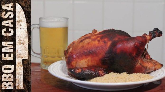 Receita de Frango Assado Marinado (Roast Chicken) - BBQ em Casa