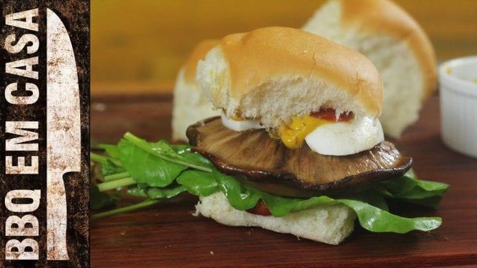 Receita de Shiitake Burger (Hambúrguer Vegetariano) - BBQ em Casa