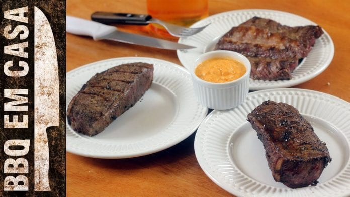 Receita de Bife de Tira (Picanha) - BBQ em Casa