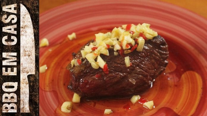 Receita de Picanha com Azeite Temperado - BBQ em Casa