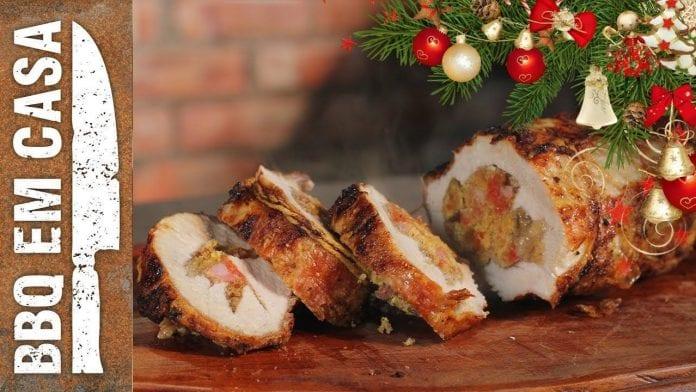 Receita de Lombo Recheado de Natal - BBQ em Casa