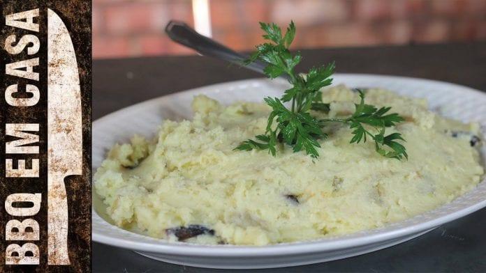 Receita de Garlic Mashed Potatoes (Pure com Alho) - BBQ em Casa