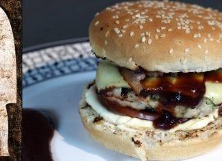 Receita de Hambúrguer de Frango (Chicken Burger) - BBQ em Casa