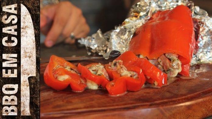 Receita de Pimentão Recheado (Stuffed Pepper) - BBQ em Casa