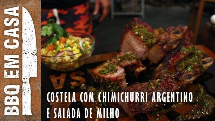 Costela Argentina com Chimichurri e Salada de Milho Defumado Feat. Johnny Destefanis - BBQ em Casa