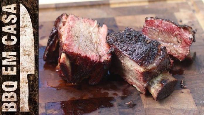 Receita de Costela Bovina Defumada no Smoker (Smoked Beef Ribs) - BBQ em Casa