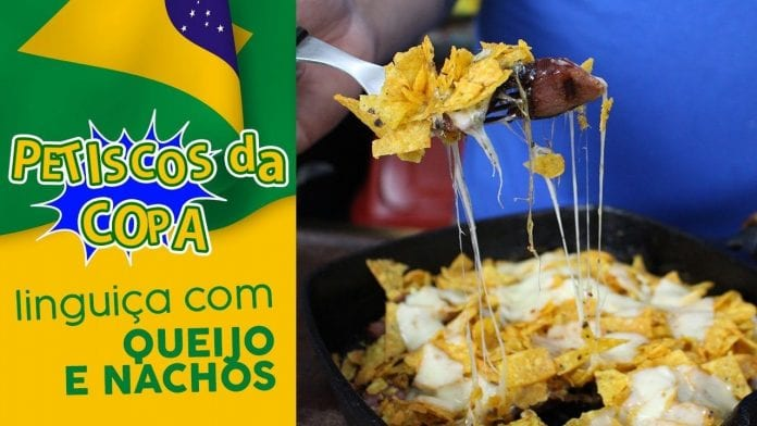 Linguiça com Queijo e Nachos - Petiscos da Copa - BBQ em Casa