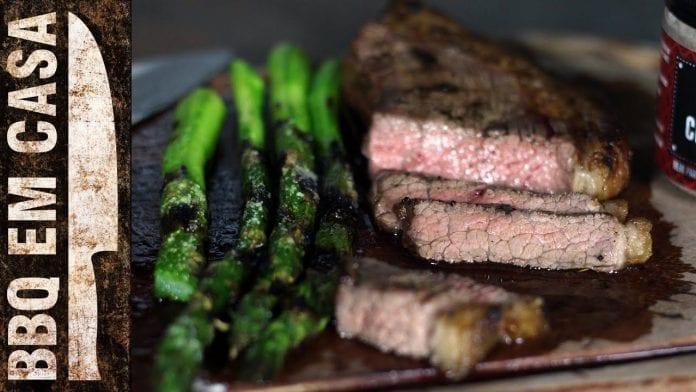 Receita de Picanha Grelhada com Aspargus - BBQ em Casa
