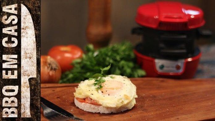 Receita de Tapioca na Sanduicheira - BBQ em Casa