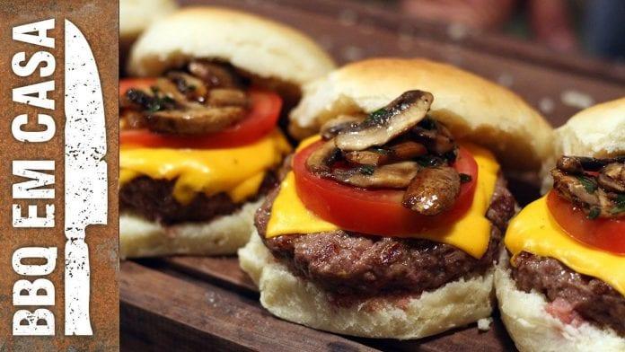 Receita de Mushroom Burger (Burger com Cogumelo) - BBQ em Casa