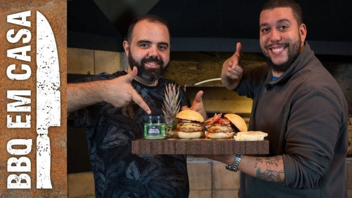 Pineapple Burger - Part. Edu Primitivo - BBQ em Casa