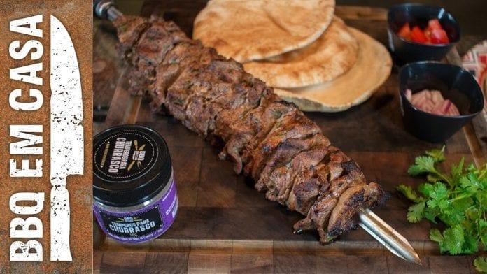 Receita de Shawarma (Churrasco Grego) - BBQ em Casa