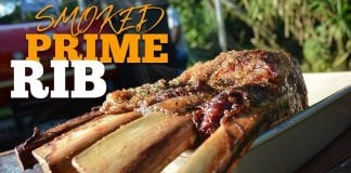 Smoked Prime Rib (Receita De Prime Rib Defumado) - Cansei de Ser Chef