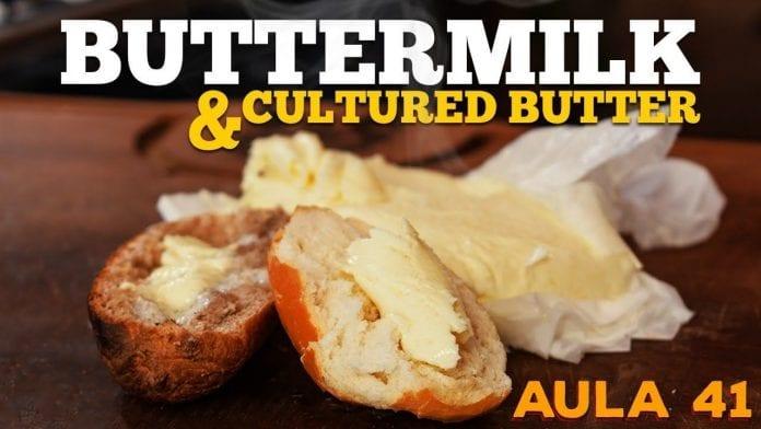 Buttermilk - Cultered Butter (Como Fazer Buttermilk) - Cansei de Ser Chef