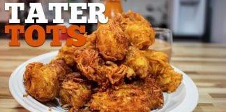Tater Tots (Como Fazer Bolinho Frito De Batata Com Queijo) - Cansei de Ser Chef