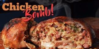 Chicken Bomb (Frango Desossado Recheado) - Cansei de Ser Chef