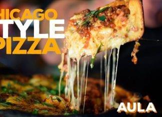 Chicago Style Pizza (Como Fazer Pizza Funda De Chicago) - Cansei de Ser Chef