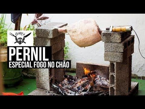 Como Fazer Pernil no Fogo de Chão - Especial Ano Novo - Barbaecue