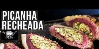 Receita de Picanha Recheada com Farofa - Barbaecue