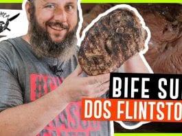 Bife Suíno dos Flintstones - Pernil Suíno - Barbaecue