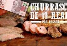 Churrasco Barato / Econômico de 10 Reais - Churrasqueadas