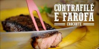 Contrafilé com Farofa Crocante - Churrasqueadas