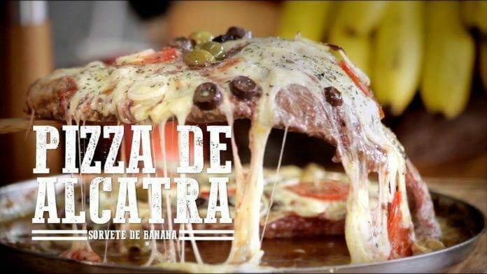 Pizza de Alcatra e Sorvete de Banana no Mini Peppe - Churrasqueadas