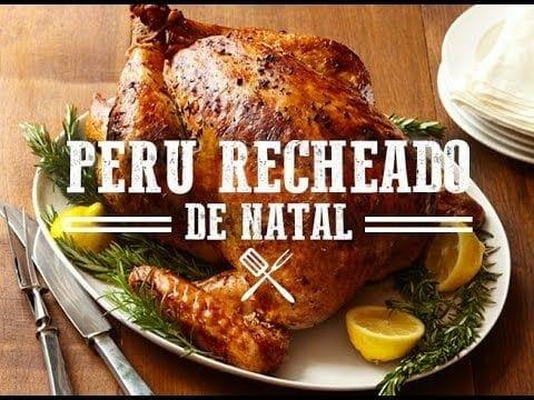 Receita de Peru Recheado de Natal - Churrasqueadas