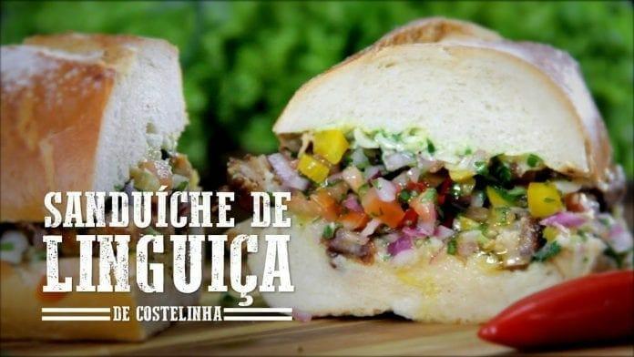 Sanduíche de Linguiça de Costelinha - Churrasqueadas