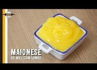 Maionese Artesanal de Mel com Limão - Como Fazer Maionese - Canal Rango
