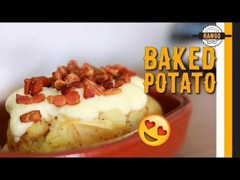 Como Fazer Baked Potato - Batata Assada com Catupiry e Bacon - Canal Rango