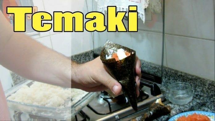 Como Fazer Temaki! (Salmão com Cream Cheese e Sakebi!!) - Canal Rango