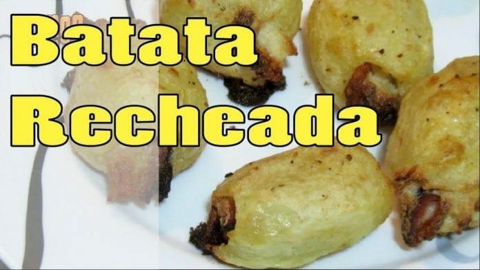 Batata Assada Recheada! Com Catupiry e Bacon - Canal Rango