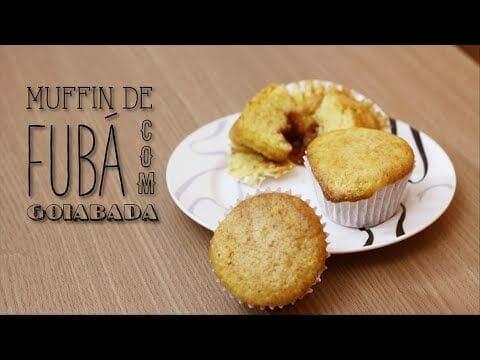 Muffin de Fubá com Goiabada - Canal Rango