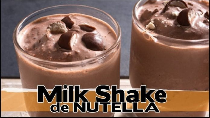 Milk Shake de Creme de Avelã ! (Nutella !!!) - Canal Rango